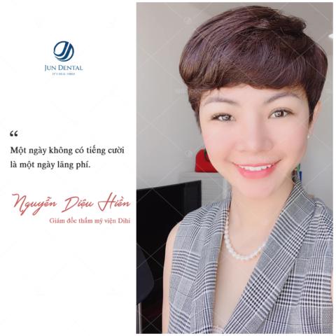 Cũng là một CEO Thẩm mỹ viện Dihi Beauty Center nên chị Hiền hiểu tầm quan trọng của một nụ cười rạng rỡ khỏe mạnh. Sau khi thực hiện 20 chiếc răng sứ thẩm mỹ tại Jun Dental giúp chị tự tin hơn mỗi khi giao tiếp với khách hàng