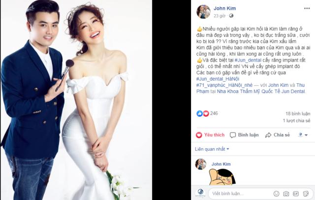 Feedback của chuyên gia trang điểm Jonh Kim gửi tới Jun Dental sau khi điều trị và làm răng sứ thẩm mỹ tại Jun Dental